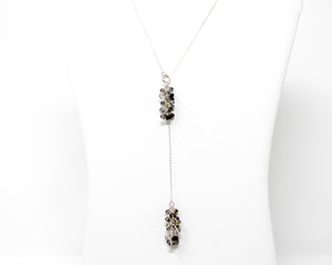 Sterling Silver Rutilated Quartz Lariat Necklace