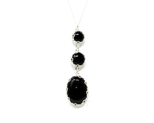Load image into Gallery viewer, Black Onyx Cascade Pendant