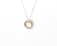Load image into Gallery viewer, Sterling Silver 14kt Gold Twist Mobius Pendant