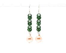 Load image into Gallery viewer, Pearl Sweet Pea Earrings