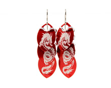 Load image into Gallery viewer, Dragon Stacked Scale Earrings