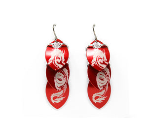 Dragon Stacked Scale Earrings