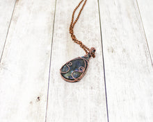 Load image into Gallery viewer, Swirly Labradorite Copper Wirewrapped Pendant