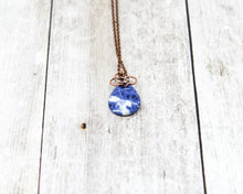 Load image into Gallery viewer, Sodalite Celtic Wirewrapped Pendant