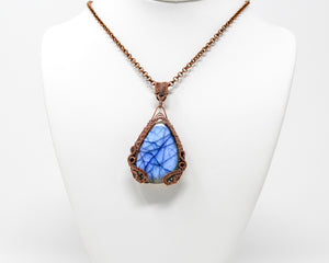 Dragon's Gate Copper Wirewrapped Labradorite Pendant