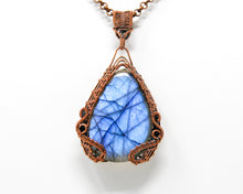 Load image into Gallery viewer, Dragon's Gate Copper Wirewrapped Labradorite Pendant