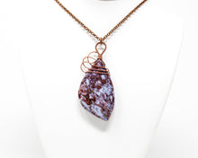 Load image into Gallery viewer, Red Lightning Agate Wirewrapped Pendant