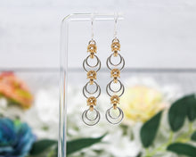 Load image into Gallery viewer, Byzantine Eclipse Sterling Silver 14kt Gold Earrings