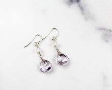 Load image into Gallery viewer, Lavender Amethyst and Moonstone Earrings