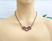 Load image into Gallery viewer, Copper Geometric Byzantine Necklace