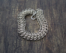 Load image into Gallery viewer, Steel Interwoven Chainmaille Bracelet
