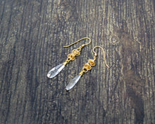 Load image into Gallery viewer, 14kt Gold Swarovski Crystal Earrings