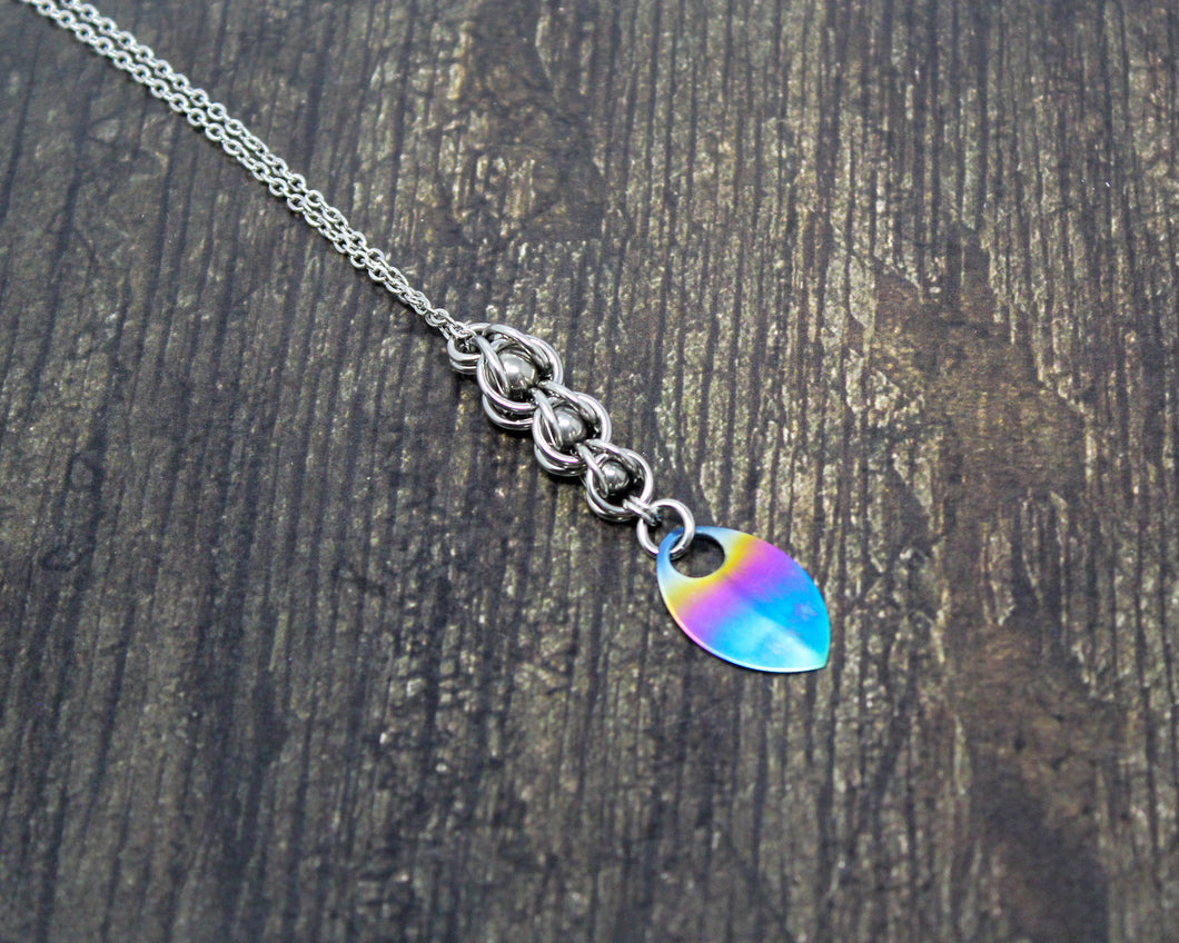 Rainbow Mermaid Tail Pendant