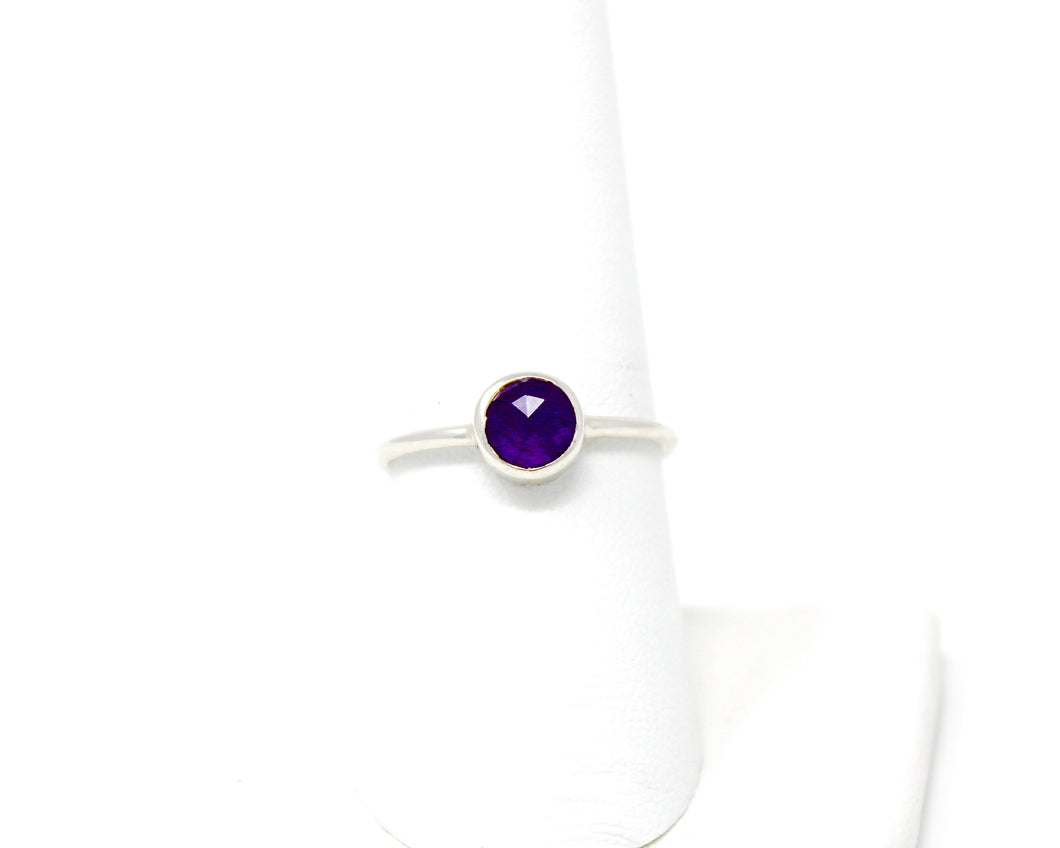 Amethyst Stacking Ring, Size 8