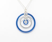 Load image into Gallery viewer, Sterling Silver and Niobium Illusion Pendant