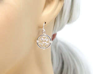 Sterling Silver Crosshairs Earrings