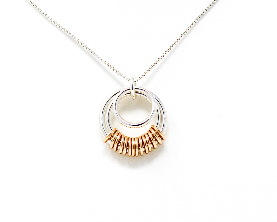 Sterling Silver and 14kt Gold fill Serenity Pendant