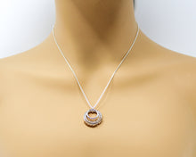 Load image into Gallery viewer, Sterling Silver and 14kt Gold fill Serenity Pendant