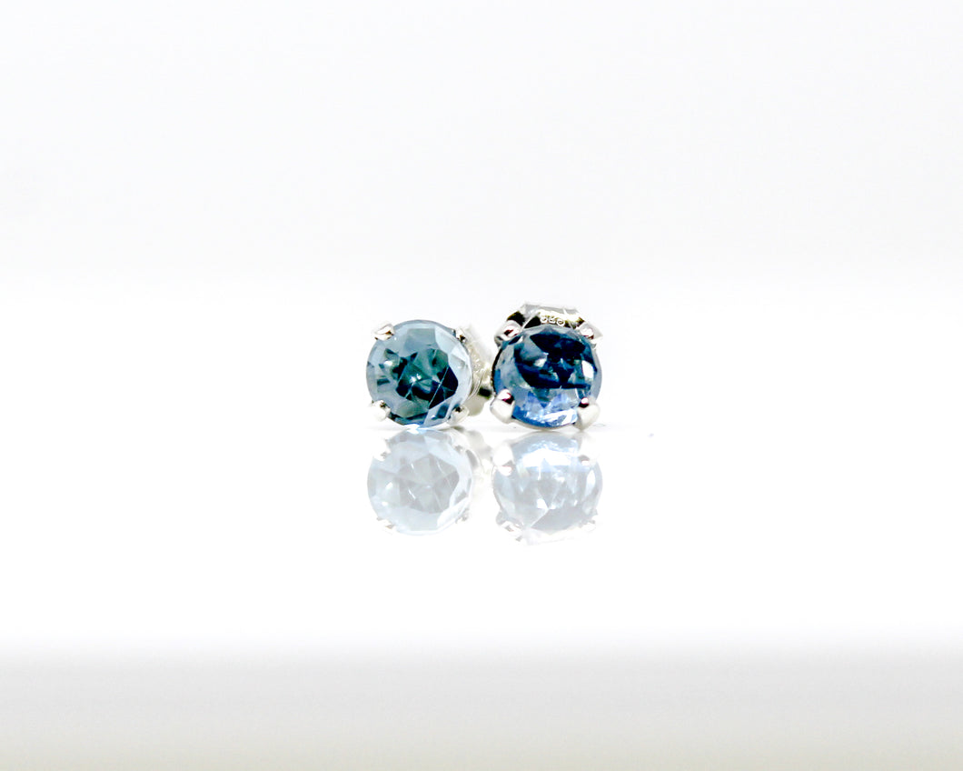 London Blue Topaz 5mm Stud Earrings