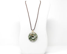 Load image into Gallery viewer, Peace Jade Wirewrapped Pendant