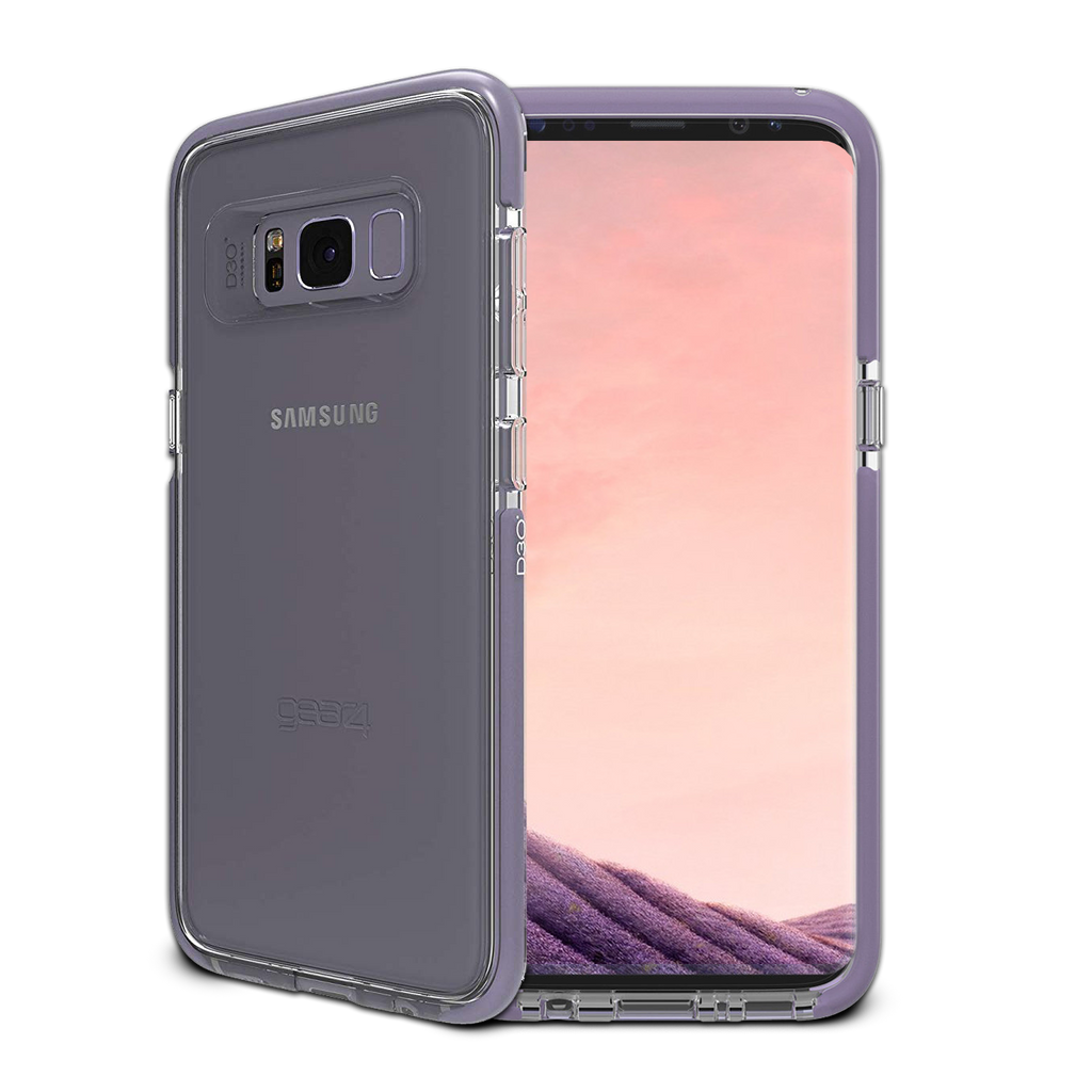 sale retailer 3e8c4 75bd6 GEAR4 D3O Piccadilly Case for Galaxy S8 - Clear/Orchid Grey