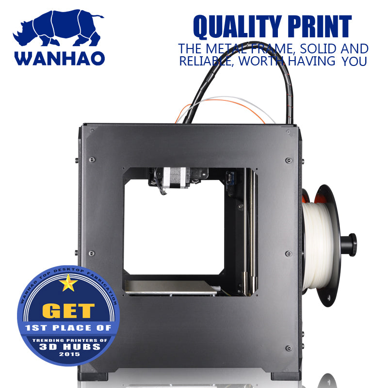 2018  High quality and cheap wanhao D4S FDM DIY 3D Printer with Double Extruder and Steel frame