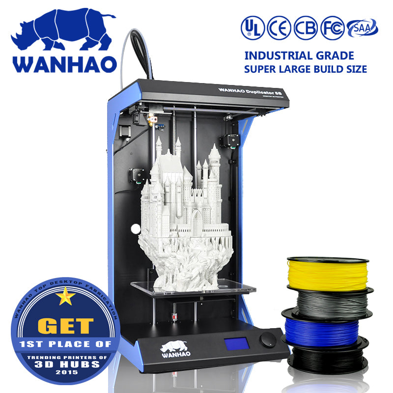Duplicator 5 Wanhao Large Format Industrial 3D Printing Machine Big Size Prototype 3D Printer