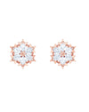 5428429 Magic Pierced Rose Tone Earrings