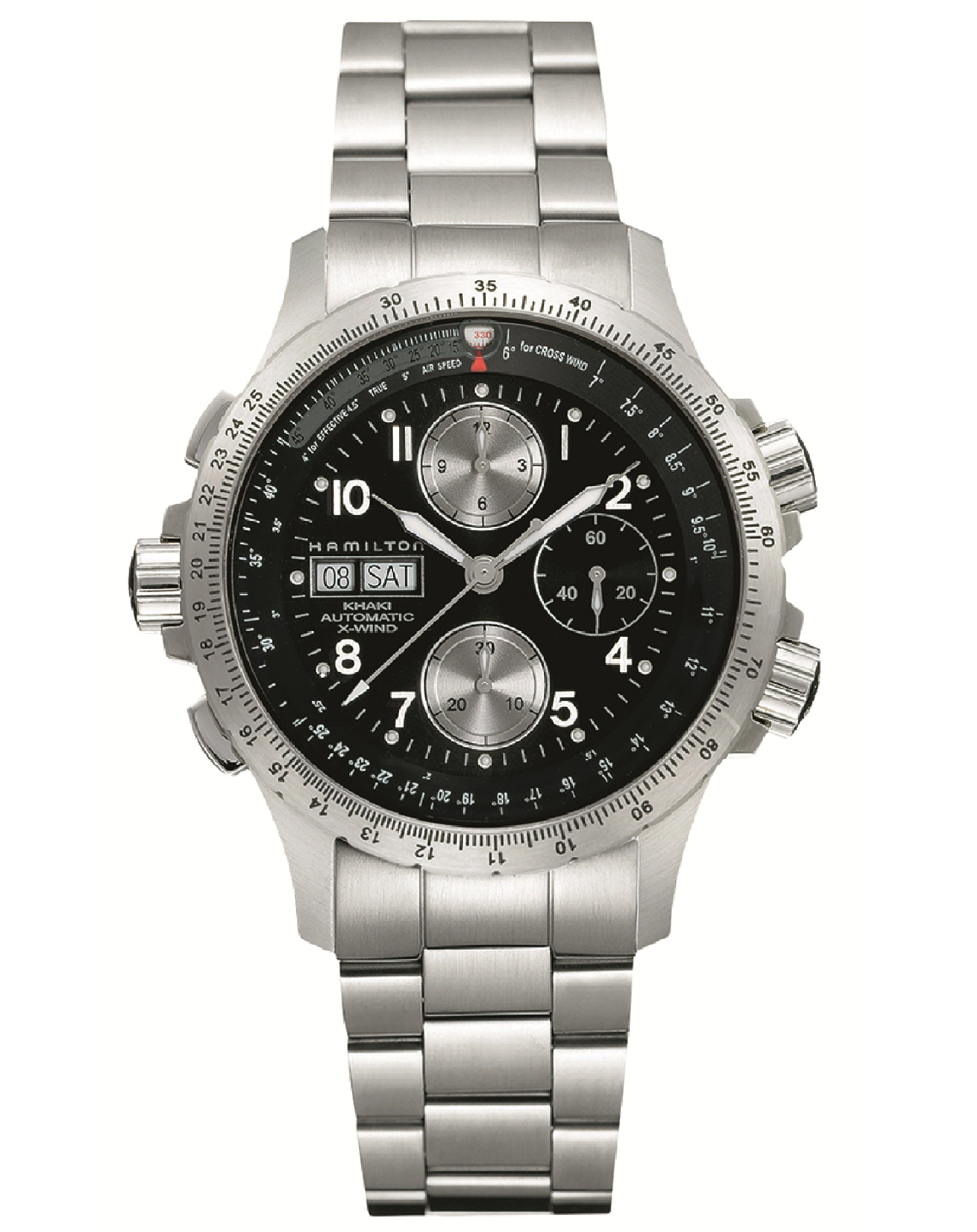 Khaki Aviation X-Wind Auto Chrono Stainless Steel Watch, H77616133