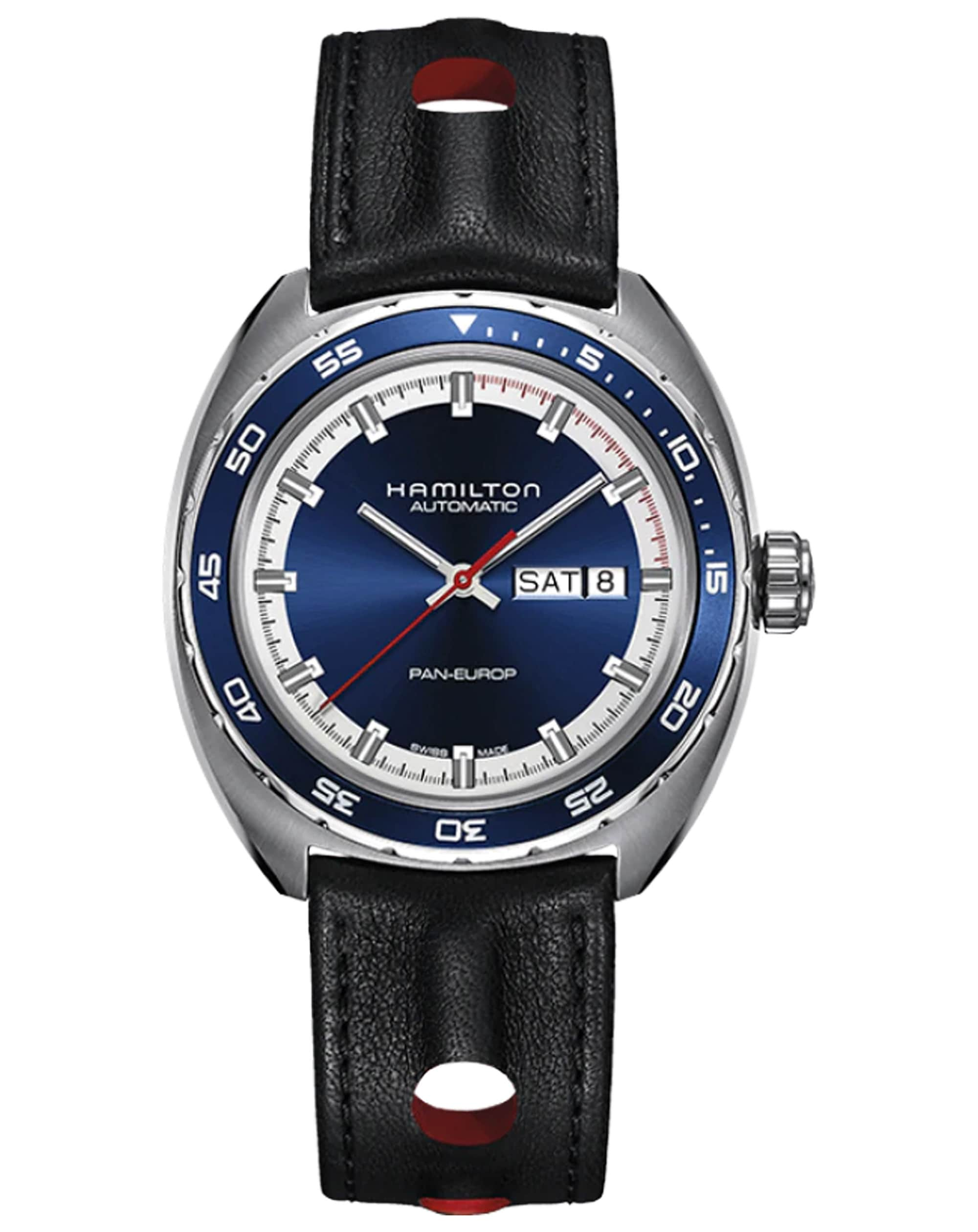 Hamilton American Classic Pan Europ Day Date Auto Watch H35405741 Front View