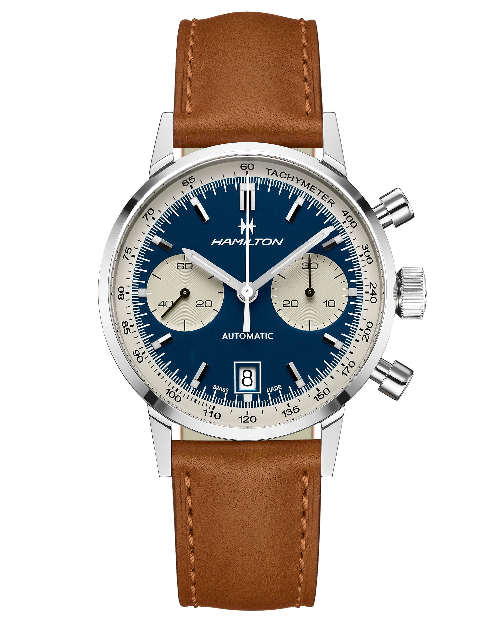Hamilton American Classic Intra-matic Auto Chrono Watch H38416541 Front View