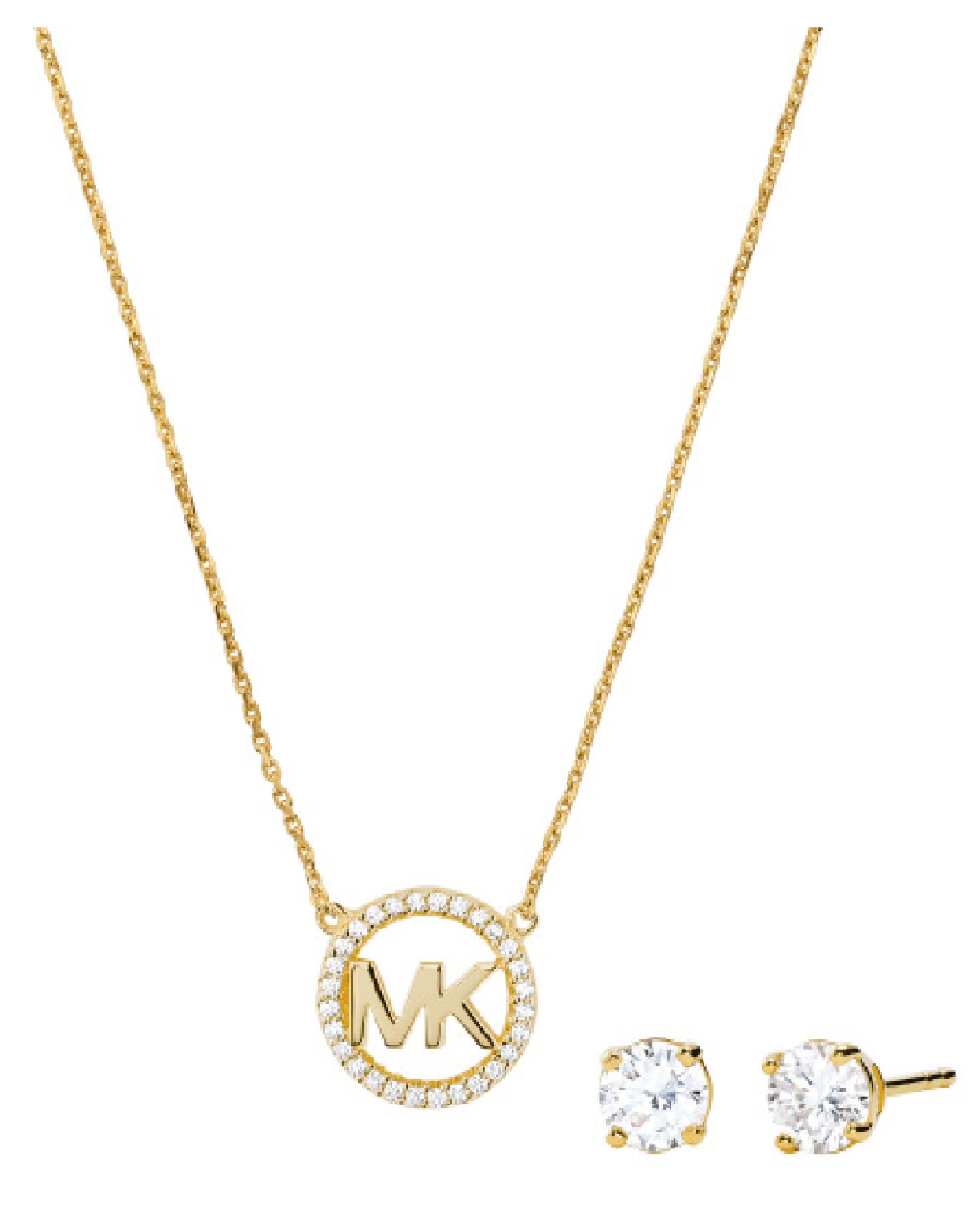 MKC1260AN710 MK Jewelry Full Set Necklace & Earings Yellow Tone