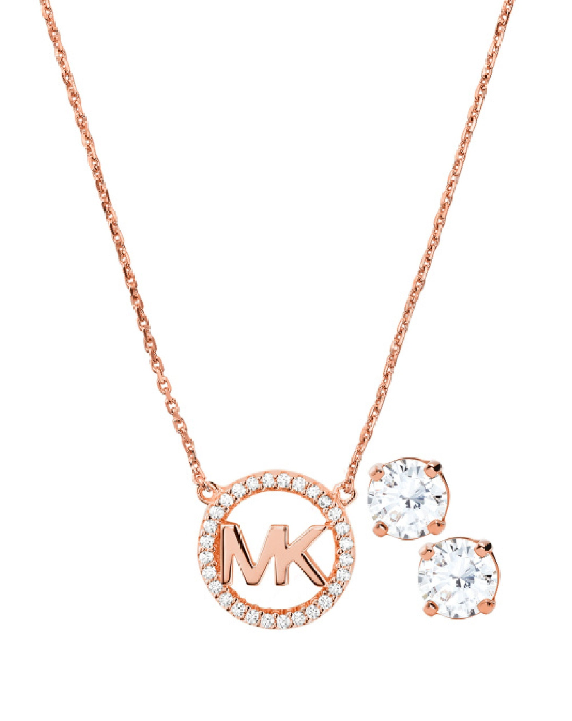 MKC1260AN791 MK Jewelry Full Set Necklace & Earings Rose Tone