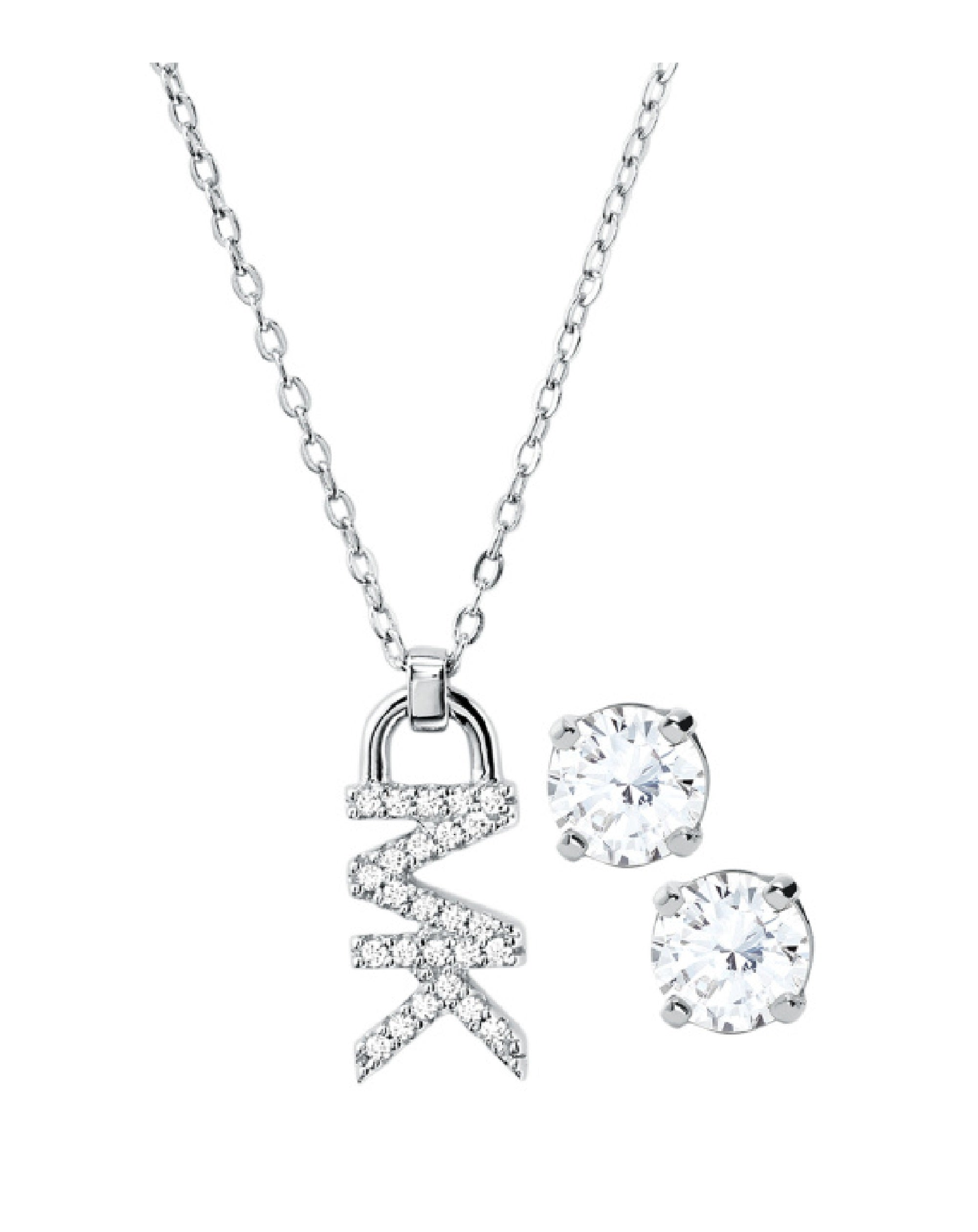 MKC1261AN040 Michael Kors Silver Necklace & Earring