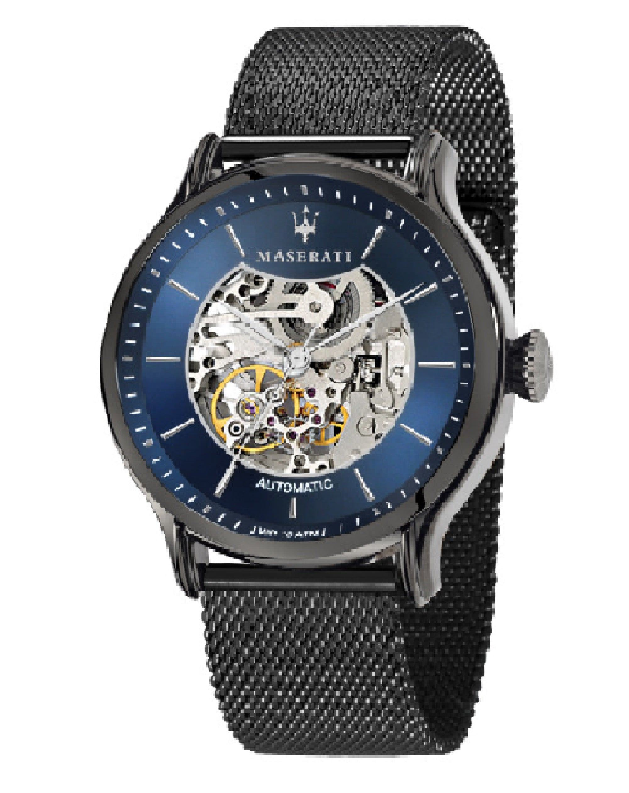 Epoca Automatic Blue Milanese Watch, R8823118002