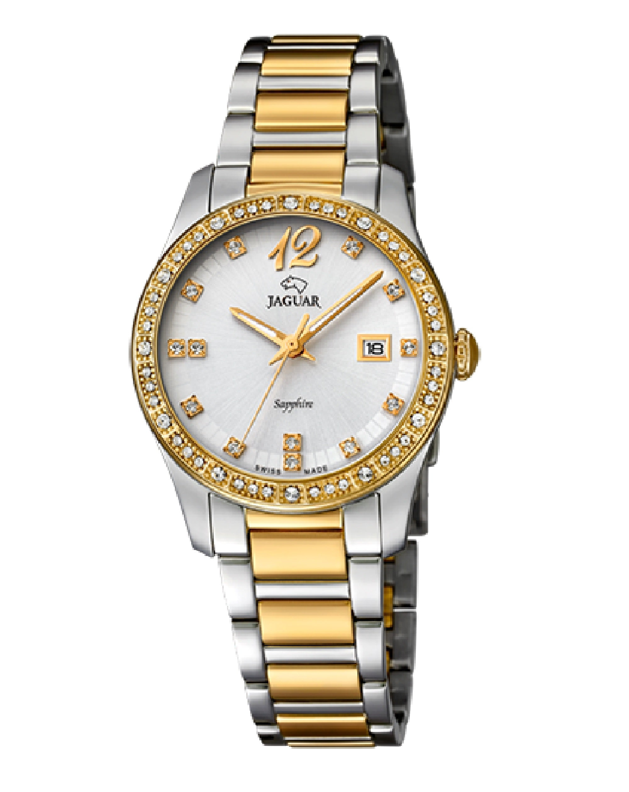 J822/1 Jaguar Cosmopolitan Two-Tone Pearl Watch