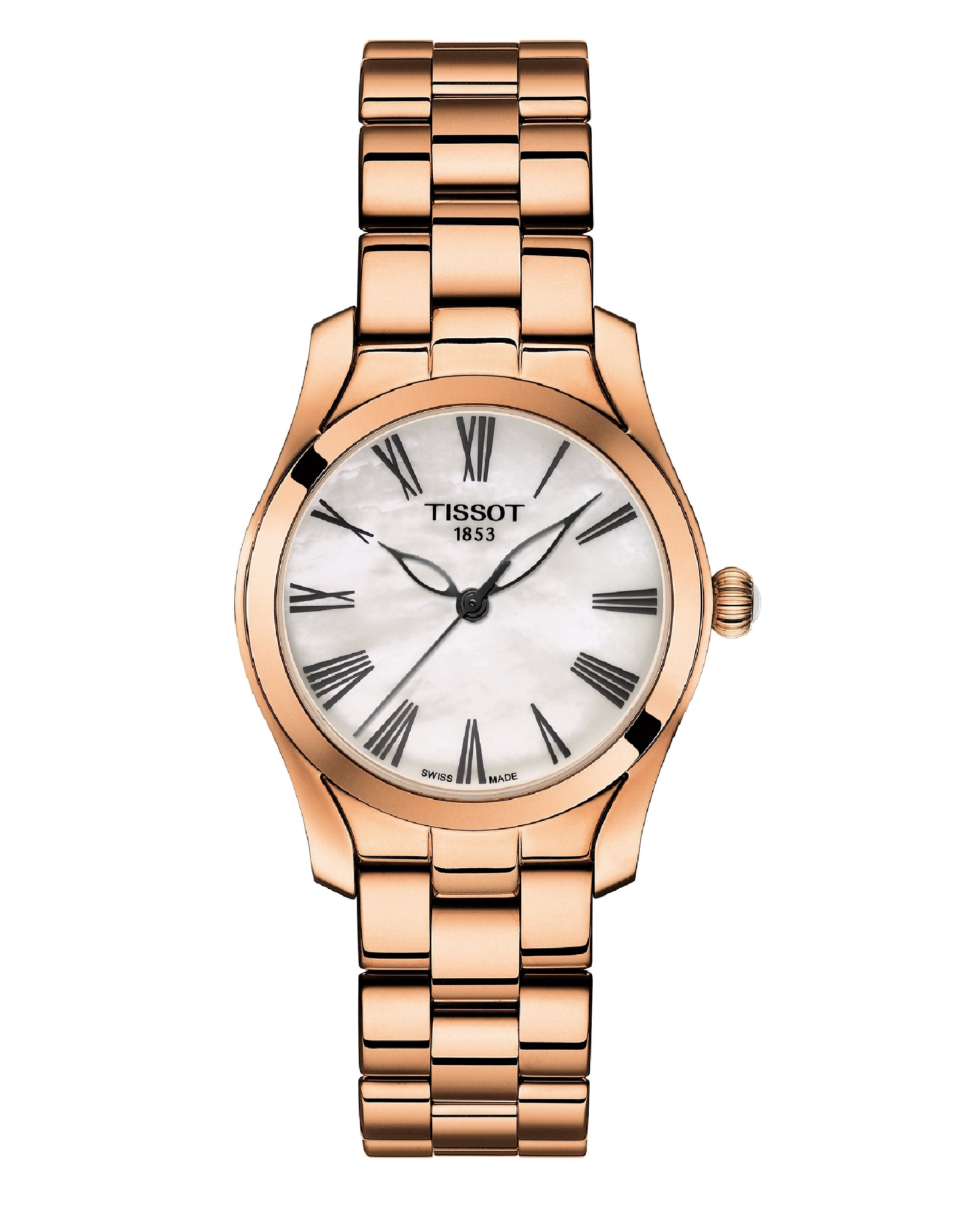 T1122103311300 T-Wave Rose Gold Stainless Steel