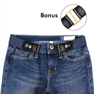 Buckle-free Elastic Women Belt for Jeans without Buckle
