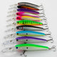 10Pcs Plastic  Fishing Lures