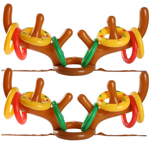 Inflatable Reindeer Antler Ring Toss Game for Christmas Party