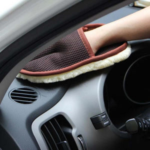 Car cleaning wool gloves