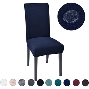Soft Washable Elastic Polyester Fabric All-Inclusive Solid Chair Cover