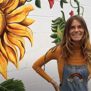 Watch Montana Lower PAINT a MURAL about FEMALE EMPOWERMENT