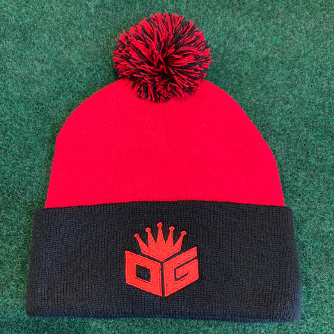 Black/Red Pom-Pom Beanie (250 Entries)