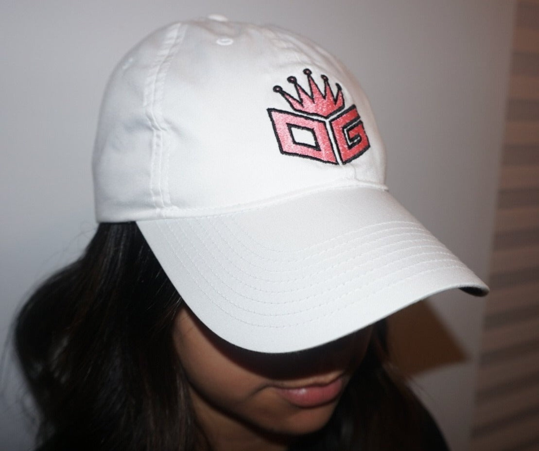 "OG Embroidered Nike Hat ""White/Pink"" - 300 Entries"