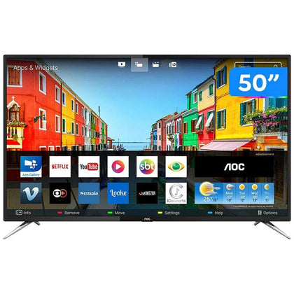 Smart TV UHD 4K 50'' AOC 4 HDMI 2 USB Wi-Fi Le50u7970s - Forcetech