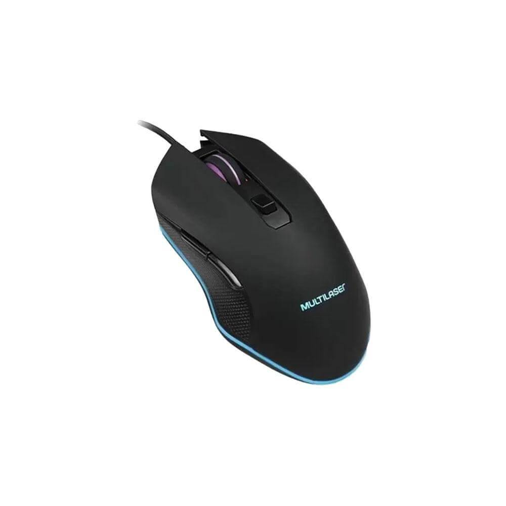 Teclado e Mouse Gamer Multilaser TC239 com Fio LED 2400DPI - Forcetech