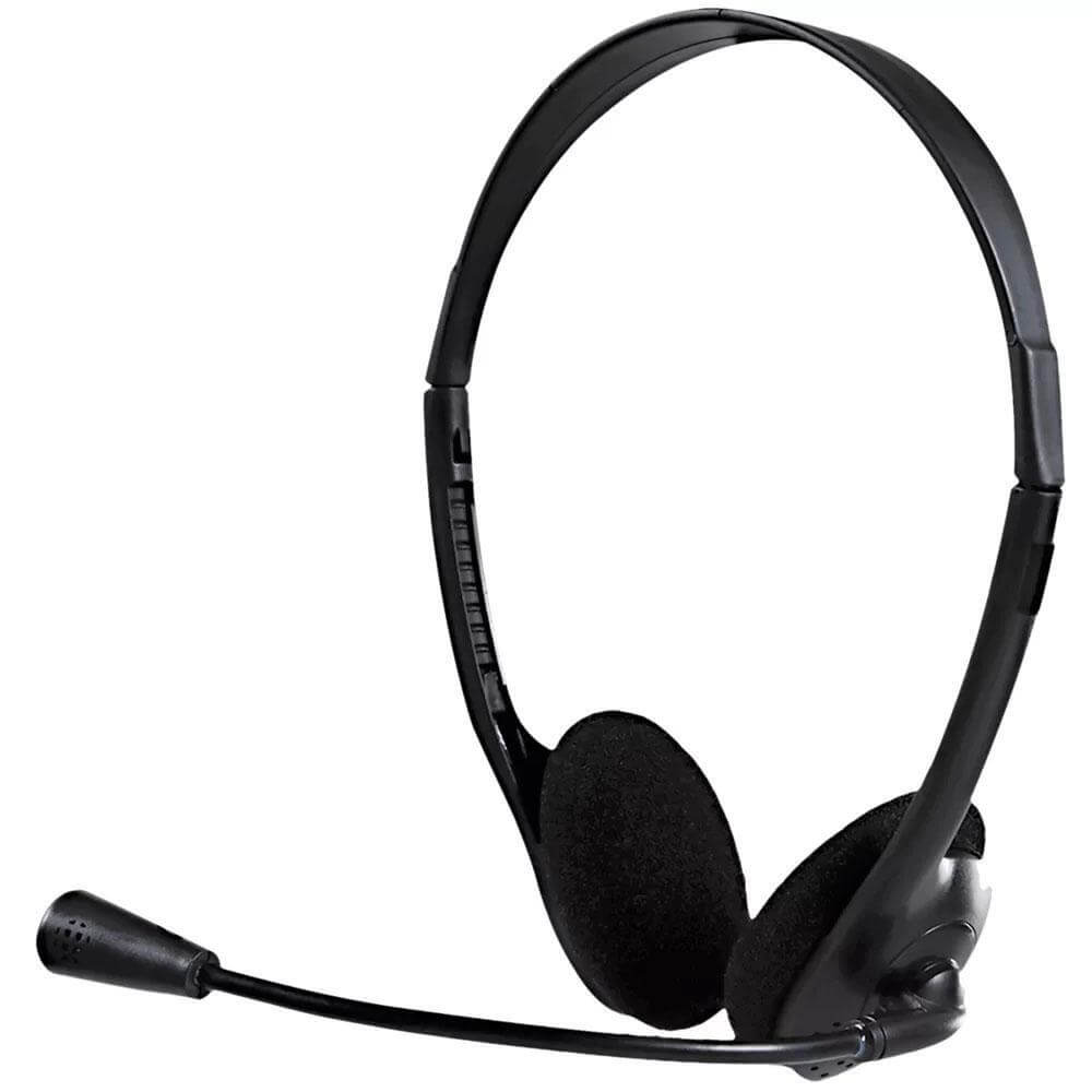 Headset Bright 0010 Office Com Microfone Haste Ajustável 2 P2 - Forcetech