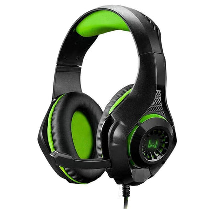 Headset Gamer Warrior Rama PH299 LED Verde - Forcetech