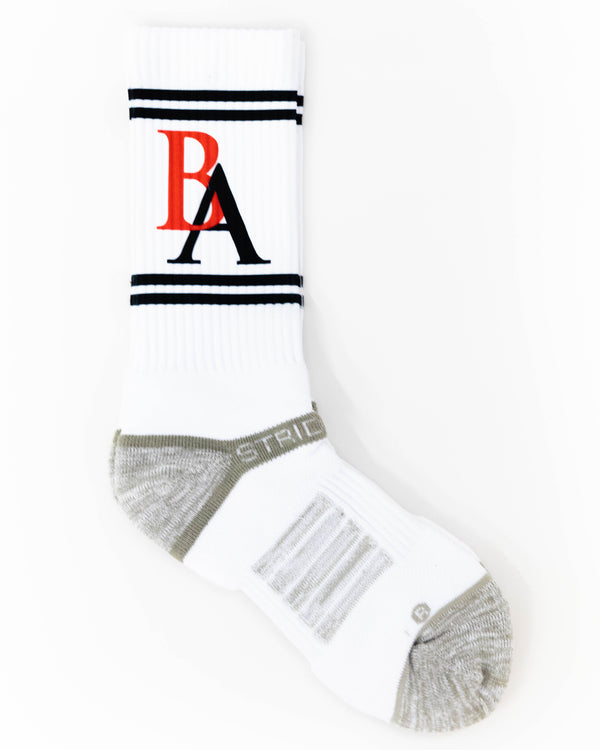 BA Crew Socks - White